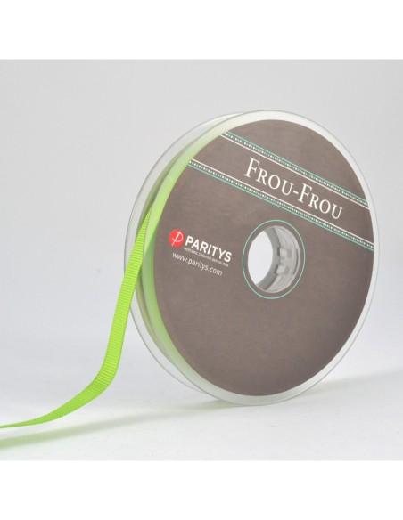 Ruban Gros grain unis 9mm Vert prairie