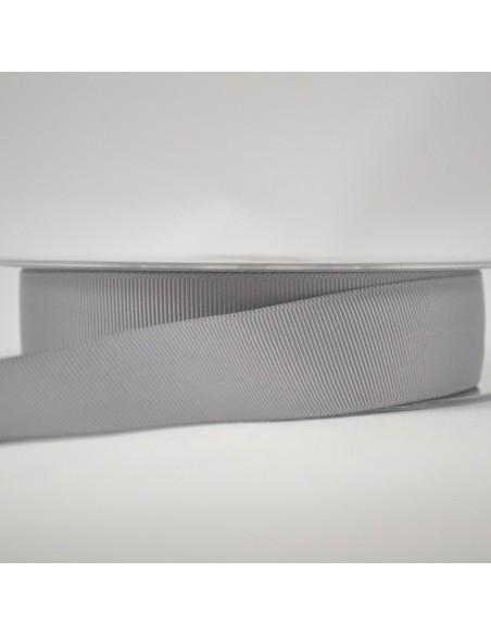 Ruban Gros grain unis 25mm Gris ciment