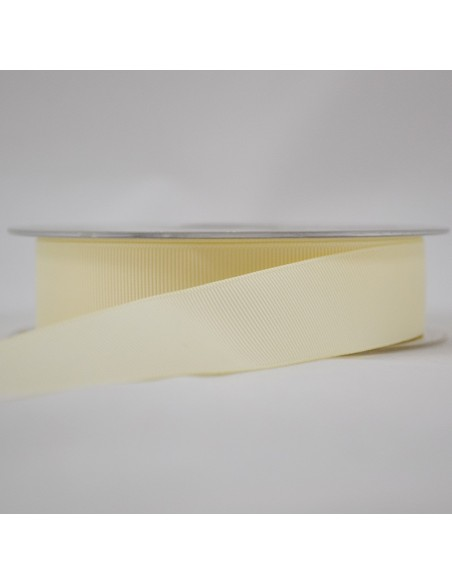 Ruban Gros grain unis 25mm Gris craie