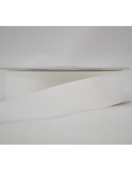 Ruban Gros grain unis 25mm Blanc