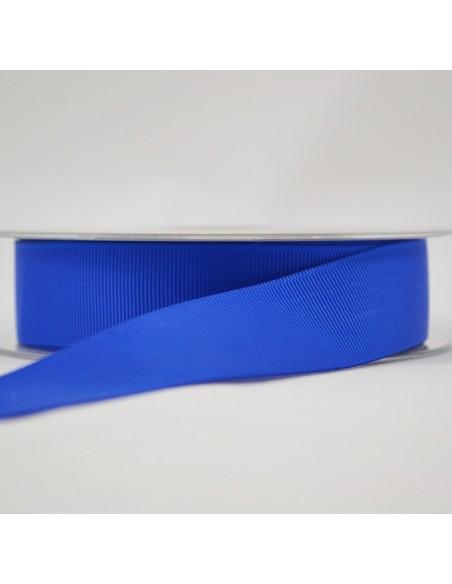 Ruban Gros grain unis 25mm Bleu roi