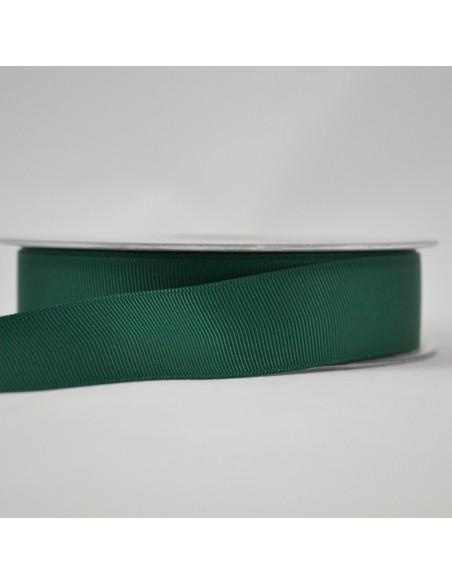 Ruban Gros grain unis 25mm Vert épinard