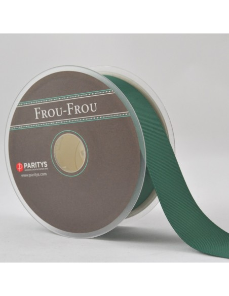 Ruban Gros grain unis 38mm Vert épinard