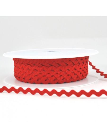Serpentine ''Toutextile'' 8mm coloris Rouge