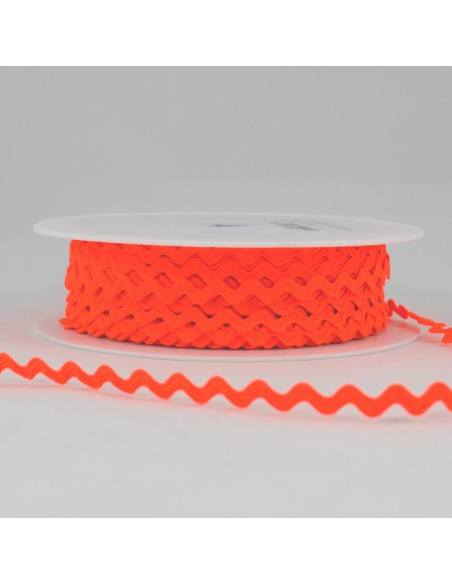 Serpentine ''Toutextile'' 8mm coloris Orange fluo