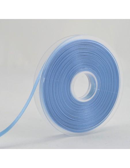 Ruban de Satin double face 6mm Bleu layette