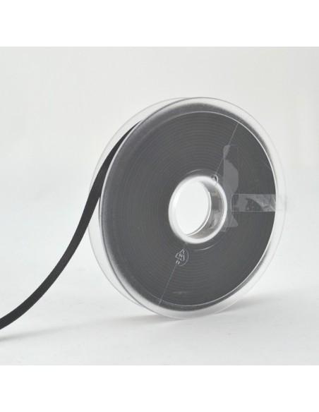 Ruban de Satin double face 6mm Noir