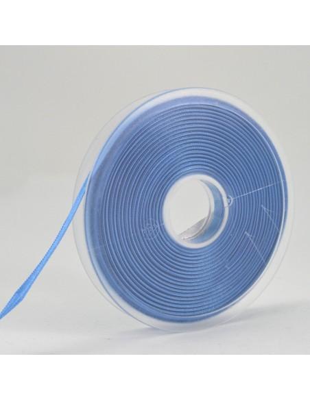 Ruban de Satin double face 6mm Bleu clair