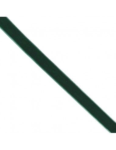Ruban de velours 16mm Vert épinard