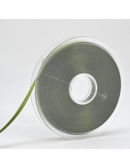 Ruban de Satin double face 6mm Vert tige