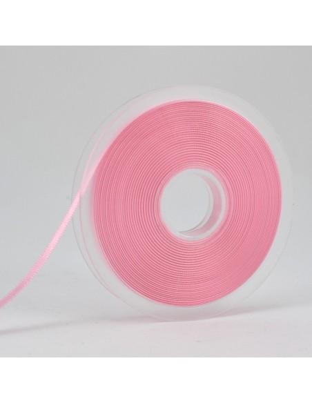 Ruban de Satin double face 6mm Rose perle