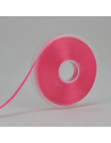 Ruban de Satin double face 6mm Rose bonbon