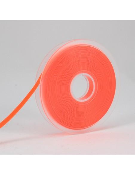 Ruban de Satin double face 6mm Orange fluo