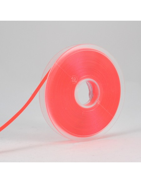 Ruban de Satin double face 6mm Rose fluo