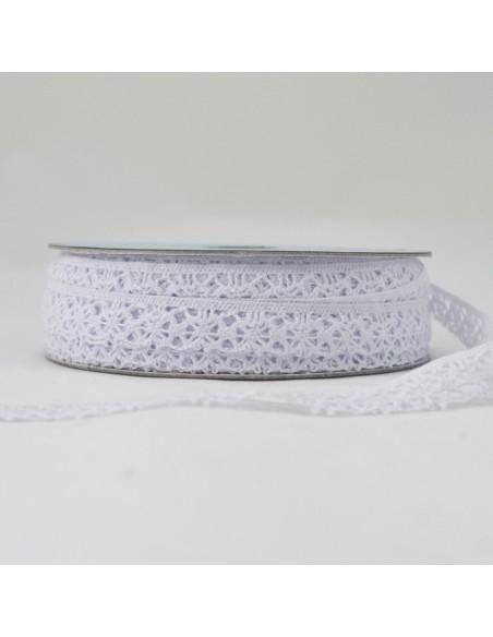 Dentelle polyester 15mm Blanc