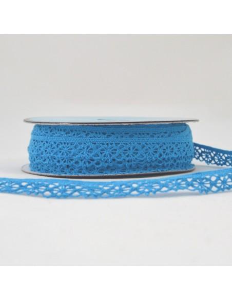 Dentelle polyester 15mm Bleu azur