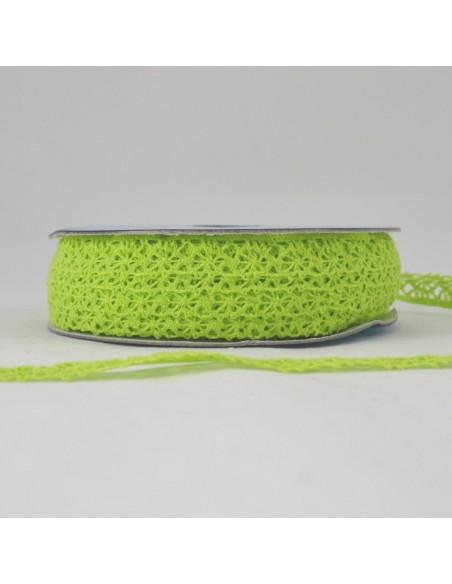 Dentelle polyester 15mm Vert clair