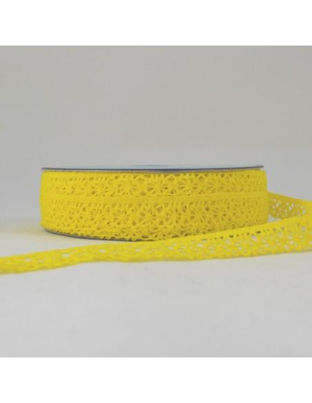 Dentelle polyester 15mm Jaune