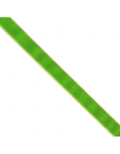 Ruban de velours 16mm vert prairie