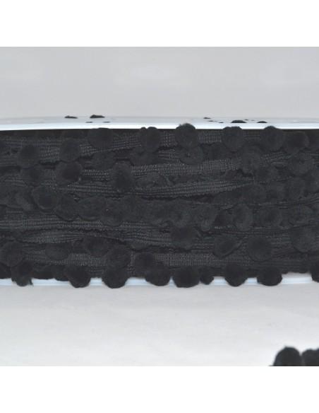 Galon à Pompons 30mm Noir
