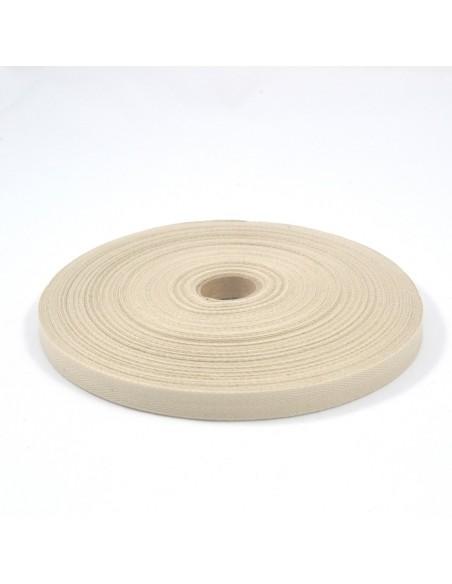 Ruban Sergé en coton 11mm Lin
