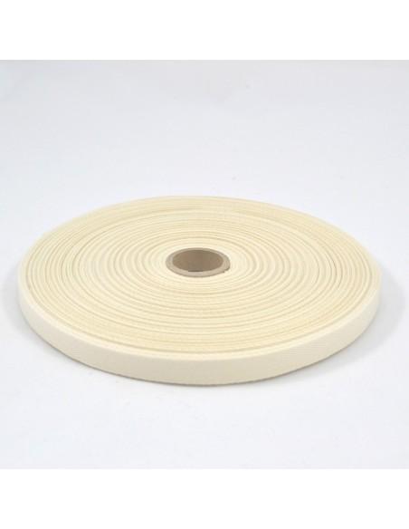 Ruban Sergé en coton 11mm Ivoire
