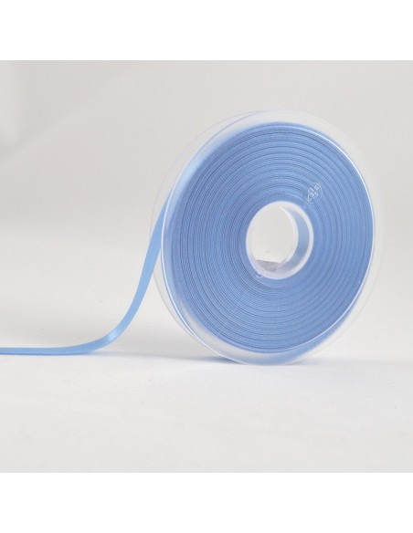 Ruban de Satin double face 8mm Bleu layette