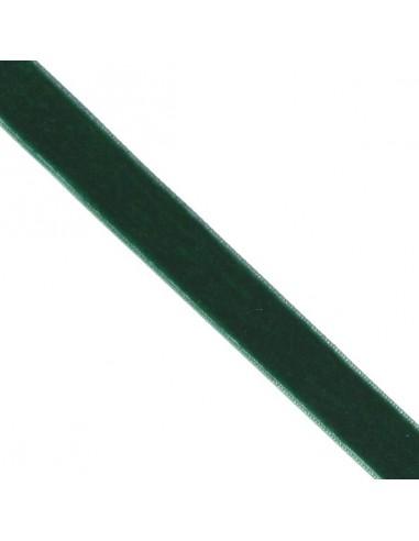 Ruban de velours 25mm Vert épinard