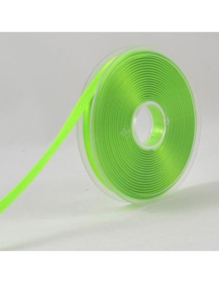 Ruban de Satin double face 8mm Vert fluo