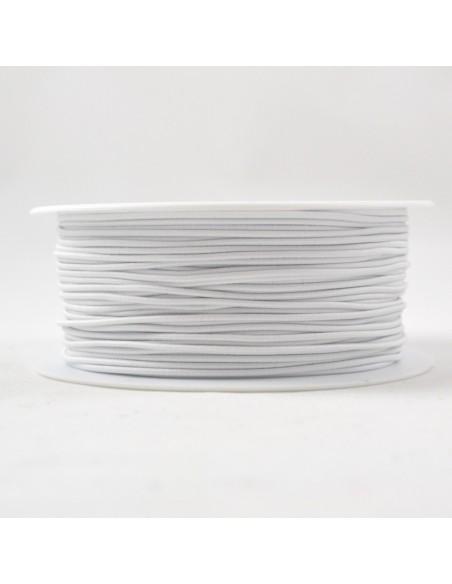 Elastique Rond Chapeau 1mm Blanc
