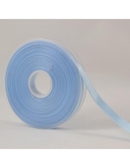 Ruban de Satin double face 10mm Bleu ciel