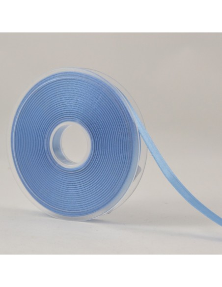 Ruban de Satin double face 10mm Bleu layette