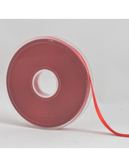 Ruban de Satin double face 10mm Rouge vermillon
