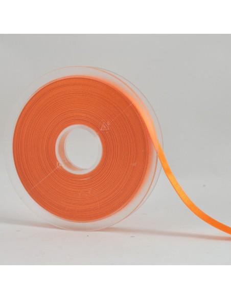 Ruban de Satin double face 10mm Abricot