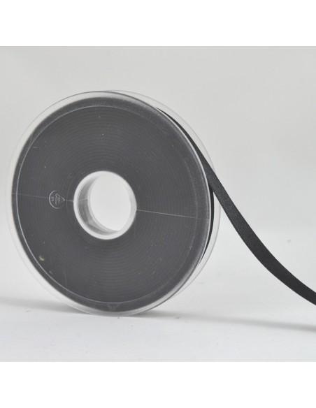 Ruban de Satin double face 10mm Noir
