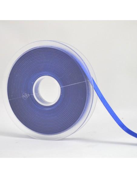 Ruban de Satin double face 10mm Bleu électrique