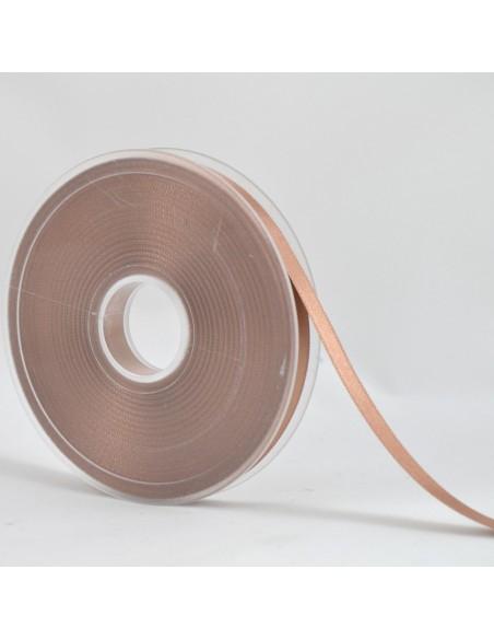 Ruban de Satin double face 10mm Marron glacé