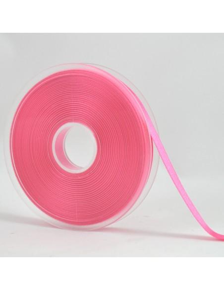 Ruban de Satin double face 10mm Rose Bonbon