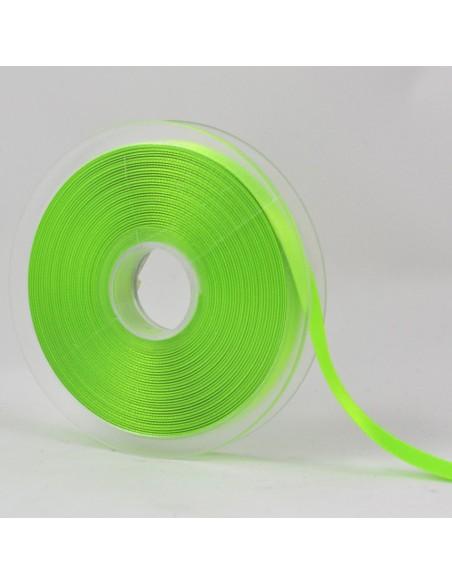 Ruban de Satin double face 10mm Vert fluo