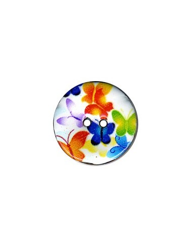 Bouton Coco décoré 23mm Papillon