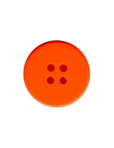 Bouton Classique 14mm Orange fluo