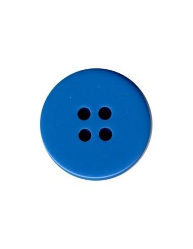 Bouton Classique 14mm Bleu fluo