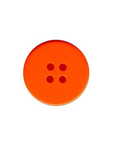 Bouton Classique 19mm Orange fluo