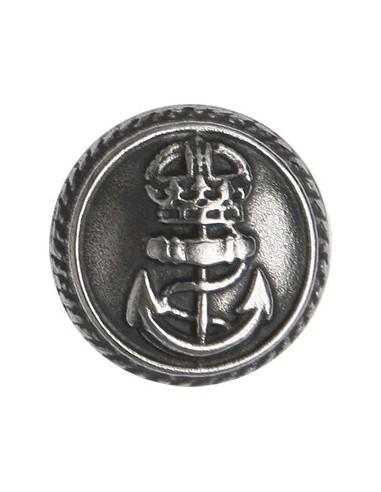 Bouton en Métal Ancre 23mm Vieil argent