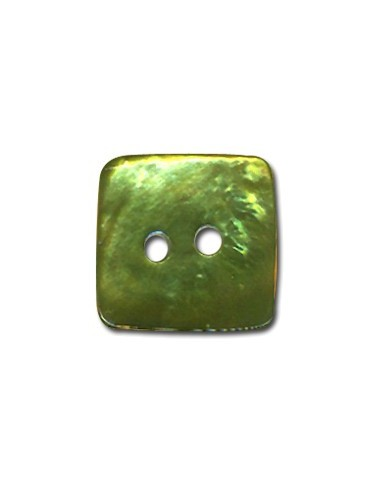 Bouton Carré en Nacre 10mm Jade
