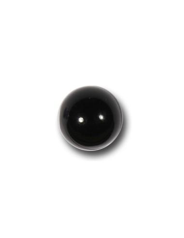 Bouton Bille 10mm Noir transparent