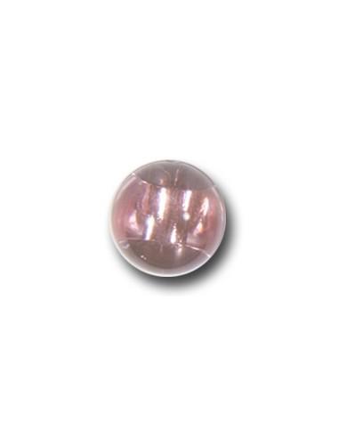 Bouton Bille 10mm Rose transparent