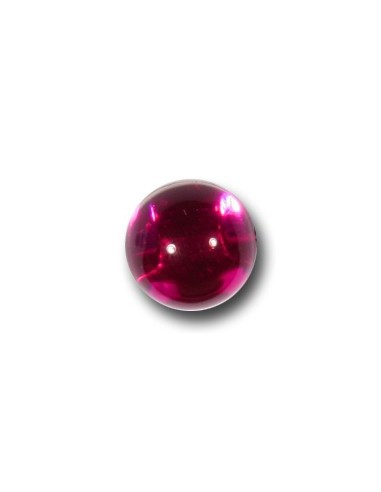 Bouton Bille 10mm Fushia transparent