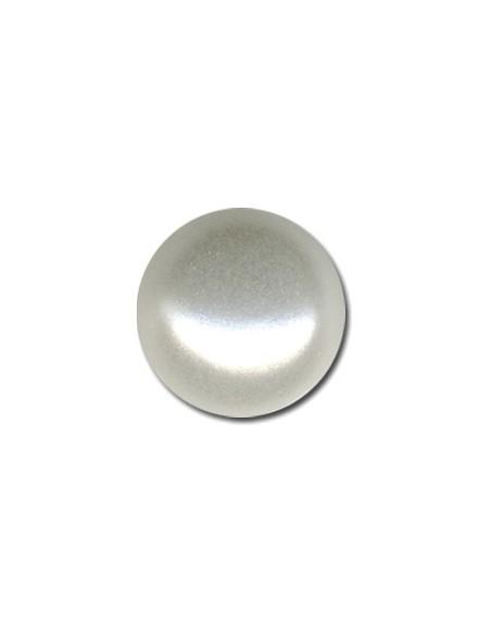 Bouton Demie-boule 9mm Couleur perle