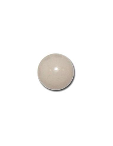 Bouton Boule 13mm Blanc cassé